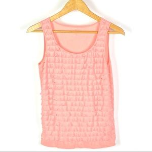 Ann Taylor Loft Women's Peach Tank Top 1083